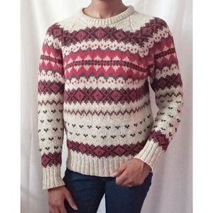 Woolrich Woman Fair Isle Knit Sweater 718